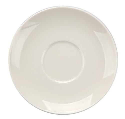 MariaPaula Kaffeeservice Teeservice Tafelservice Tasse mit Untertasse Porzellan Chodziez Ecru (Untertasse 15 cm)