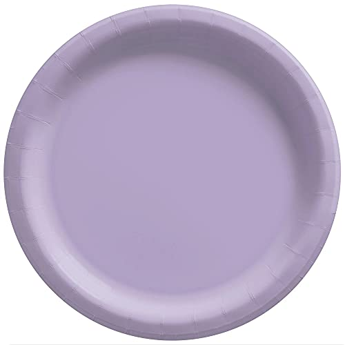Big Party Pack Lavender Paper Plates | 9' | Pack of 50 | Party Supply