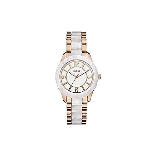 Guess W0074L2 - Reloj de Pulsera para Mujer, Color Blanco/Plata