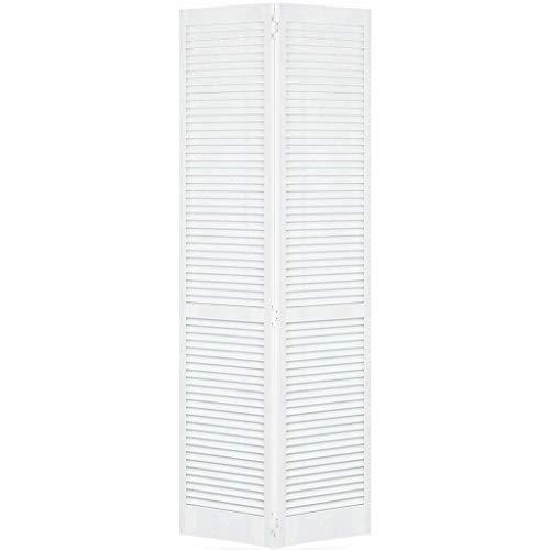 Closet Door, Bi-fold, Kimberly Bay Traditional Louver-Louver White (80x30)