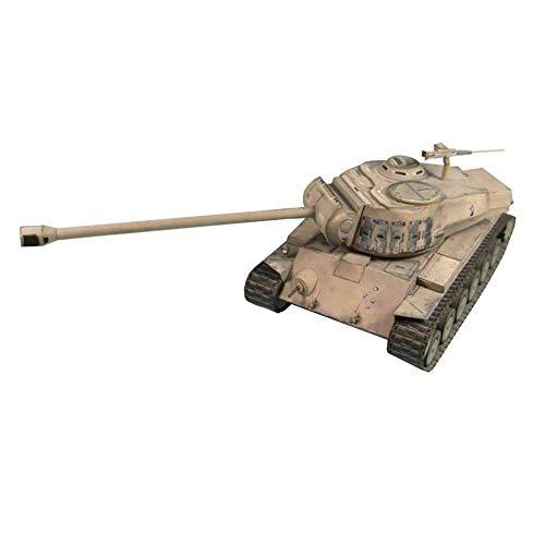 FTFTO Equipo de Vida, Rompecabezas de Papel Militar, Juguetes Modelo 1/35 Scaleus T26E4, Tanque Mediano Super Pershing, Juguetes y Regalos para niños de 9,8 x 3,9 Pulgadas