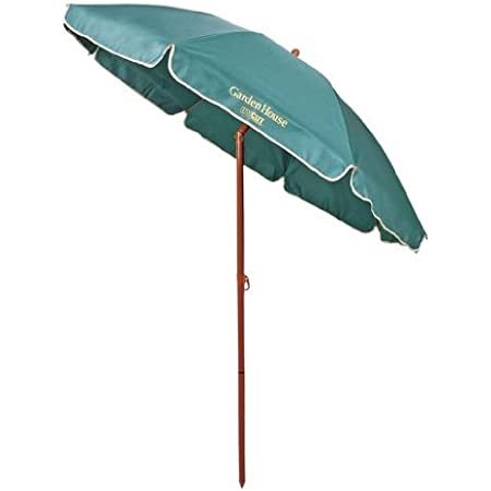 ガーデンハウス UVカットパラソル200cm(グリーン)