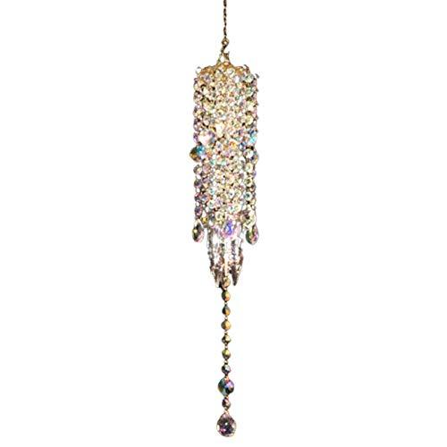 KingbeefLIU Campanella A Vento Trasparente Lucido Finto Cristallo Prismi di Cristallo Appesi Ciondolo Acchiappasogni Regali Decorazioni per La Casa Trasparente