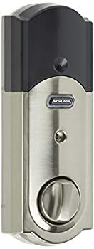 SCHLAGE Z-Wave Connect Camelot Touchscreen Deadbolt with Built-In Alarm Satin Nickel BE469 CAM 619 Works with Alexa via SmartThings Wink or Iris