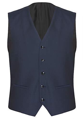CG - Club of Gents Herren Anzugweste Carlton Blau ohne Ärmel mit Taschen blau,Größe 48
