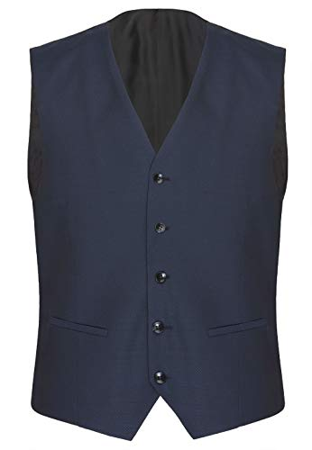 CG - Club of Gents Herren Anzugweste Carlton Blau ohne Ärmel mit Taschen blau,Größe 102