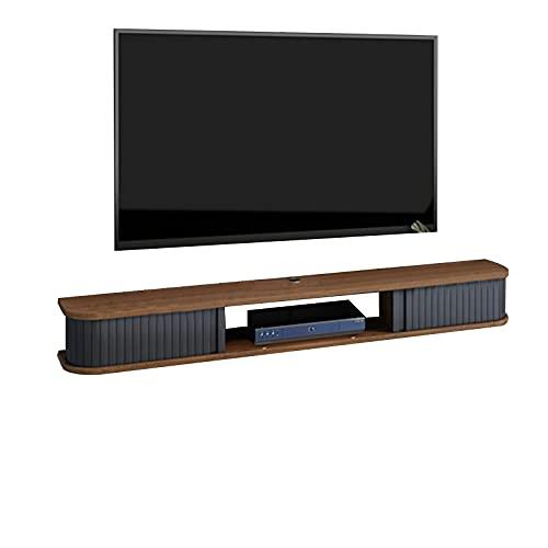 Consola Multimedia Montada En La Pared, Mueble con Soporte para TV, Montaje En Pared, Ahorra Espacio, Unidad De Entretenimiento Flotante para Sala De Estar, Dormitorio