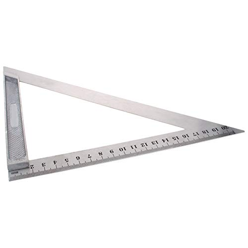 Utoolmart 200mm Calipers Double Side Scales Metric Triangle Ruler Square Stainless Steel Drawing Carpentry Measuring Tool