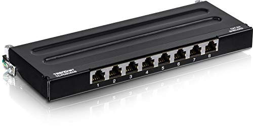 TRENDnet 8-Port Cat6A Shielded Patch Panel, TC-P08C6AS, Wall Mount...