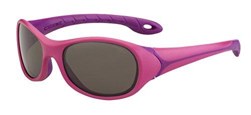 Cébé Flipper Gafas de Sol, Unisex niños, Matt Dark/Pink, Small