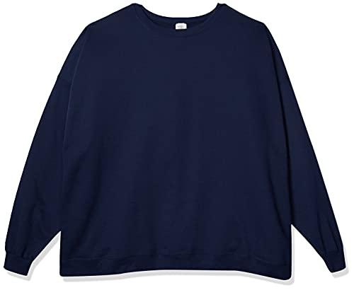 Hanes Men's Ecosmart Fleece Sweatshirt,Navy,XL