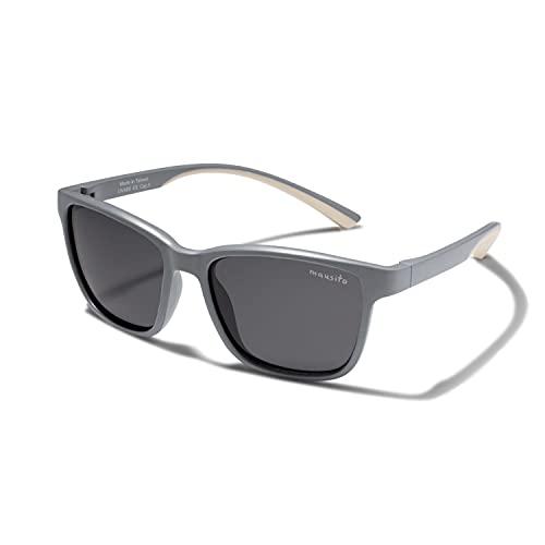 Mausito® Sonnenbrille Kinder 4-7 Jahre Jungen I Stilvolle Kinder Sonnenbrille POLARISIERT I 100% UV Schutz I Coole Sonnenbrille für Kinder I Radbrille & Sportbrillen I kids sunglasses