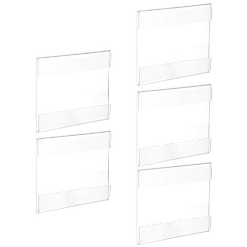 Scicalife 5 Uds Titulares de Etiquetas de Plástico Estante de Alambre Acrílico Titulares de Etiquetas de Precio Soporte de Exhibición de Carteles de Mercancía para Tienda de Supermercado