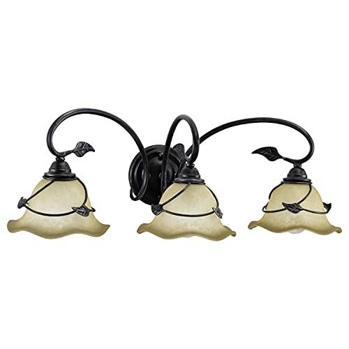 Stunning Lights That Match Allen and Roth Eastview Lighting Collection: Vaxcel VL38843OL Vine 3 Light Vanity Light