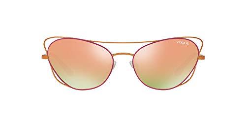 Vogue Women's VO4070S Cateye Sunglasses, COPPER/FUXIA, 57 mm