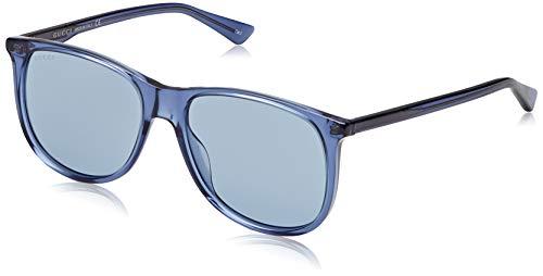 Gucci GG0263S-003 Occhiali da Sole, Blu (Azul Acetato), 57 Unisex-Adulto