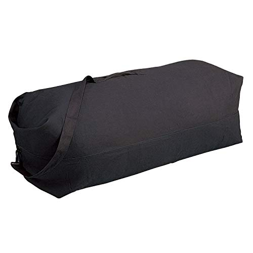 Stansport 1206 Deluxe Duffel Bag with Shoulder Strap, 50  X 14.5  X 14.5 , Black