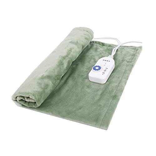 """Mantas eléctricas Liang climatizada Throw, 9 ajustes de Temperatura, Anti-recalentamiento automático de Apagado, 31"""" x 23, Lavable a máquina, for los sofás y Camas (Color : Green)"""