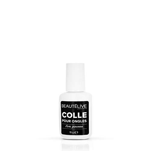 Beautélive Colle pour ongles avec pinceau Colle pour ongles avec pinceau