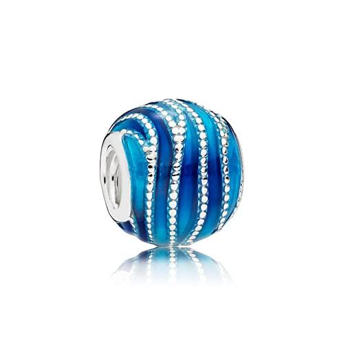 ZHANGCHEN Dijes de Esmalte Azul vórtice para Mujer, Accesorios de Pulsera y Collar de Pandora, Colgante de Bricolaje, Regalo
