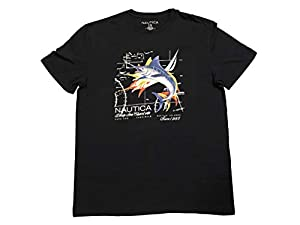 Nautica Mens Short Sleeve Deep Sea Charters T-Shirt, Navy 2X-Large