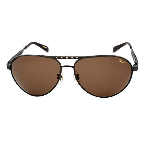 Chopard Gafas de Sol Hombre SCH-B01M-SLSP (Diametro 64 mm), Brown, Talla Unica Unisex-Adult