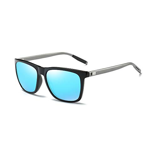 AMZTM Fashion Square Frame Sunglasses for Men, Women, Polarized TAC Lens, Ultra-Light Al-Mg Eyewear,...