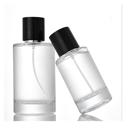 EKYJ Botella de perfume de viaje, botella de perfume de gran capacidad, botella vacía de vidrio para maquillaje líquido de perfume (color: 100 ml)