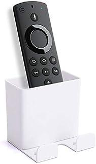 Everstars Fire TV Stick リモコンラック Fire TV Stick ケース Fire TV Stick 収納ボックス Fire TV Stickブラケット Fire TV Stick ケースFire TV Stick 4K 収納ボックス Amazonリモコン収納ボックス (ホワイト)