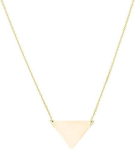 14  Gelb Gold side-ways verstellbar Dreieck Halskette 46cm