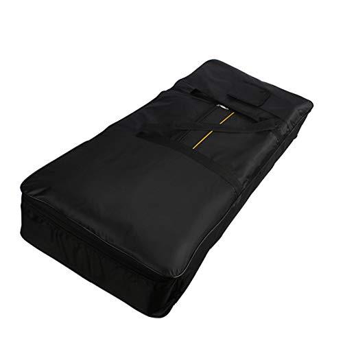 Courti Piano eléctrico acolchado funda de protección, bolsa para teclado 61 notas, funda para piano eléctrico con asa negra, bolsa de transporte impermeable 61 llaves, 32 x 20 x 5 cm