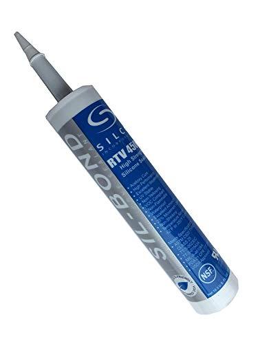 Food Grade NSF FDA RTV Silicone Sealant Adhesive Clear 10.3oz (1) (10.3 Ounce Tube)