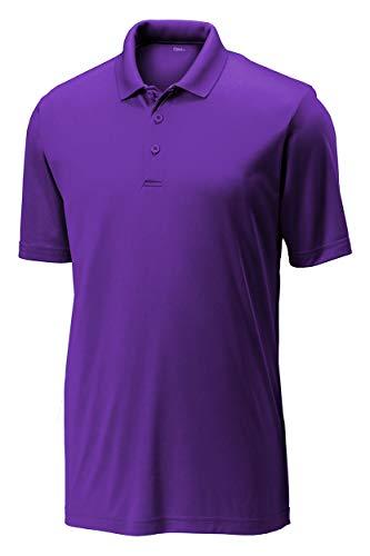 Opna Mens Dry-Fit Golf Polo Shirts,Purple,X-Large