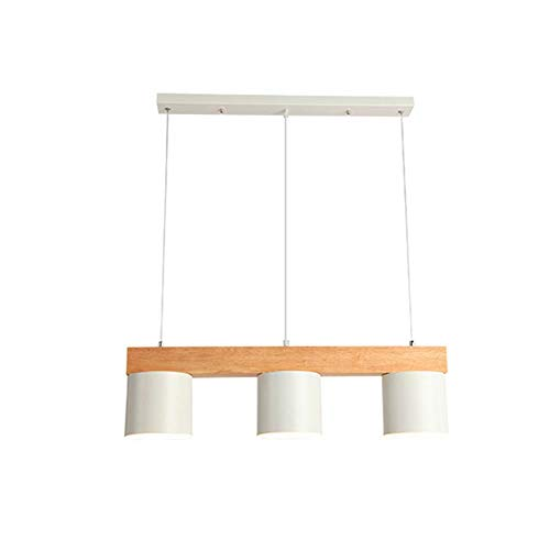 Qiutianchen Leuchter Stil Kronleuchter Restaurant Moderne Einfache DREI Esszimmer Lampe Bar Tischlampe Holz Kreative Holz Mahlzeit Hängelampen (Color : Black)