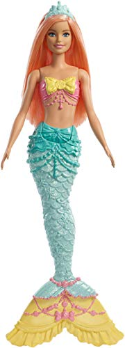 Barbie Dreamtopia Mermaid Doll, Approx. 12-Inch, Rainbow Tail, Coral Hair, for 3 to 7 Year...