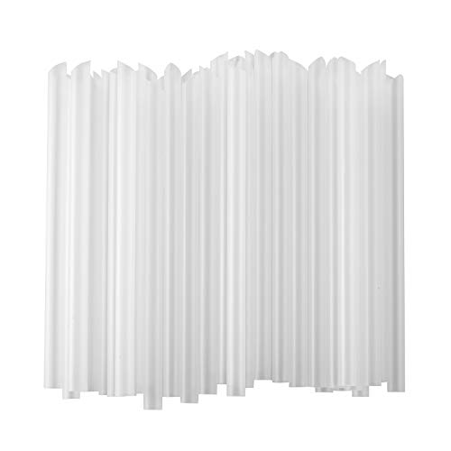"""ALINK Extra Wide Clear Plastic Bubble Tea Smoothie Straws, 1/2"""" Wide X 8 1/2"""" Long Fat Boba Milkshakes Straws, Pack of 100"""