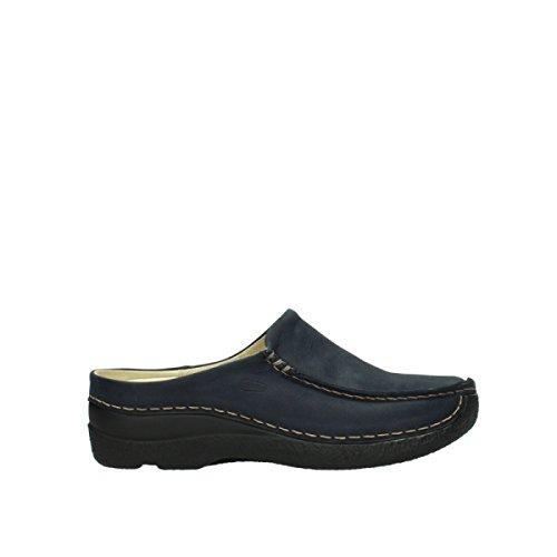 Wolky Comfort Seamy Slide - 11802 blau geöltes Nubuk - 43