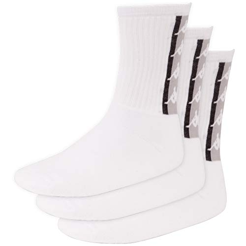 Kappa Authentic Fatal 3 Calcetines, Unisex Adulto, Blanco