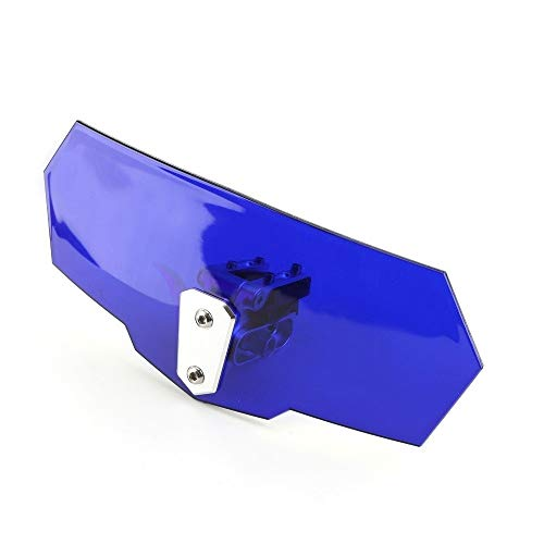 LUJIAN Areyourshop Pantalla Universal del Parabrisas Ajustable Extensión del Deflector En Forma Fit For Yamaha Moto Alerón Deflector De Viento (Color : Blue)