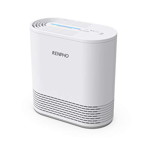 RENPHO Air Purifier for Home Allergies and Pets, Air Purifier with H13 True HEPA Filter, Quiet Air Purifier for Bedroom Kitchen Office, Eliminate 99.97% Odors Smoke Mold Pollen Dust Pet Daner, Ozone Free