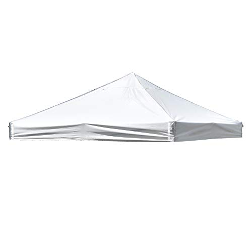 Yescom 10' x 10' EZ Pop Up Canopy Top Replacement Instant Patio Pavilion Gazebo Sunshade Tent Oxford Cover White