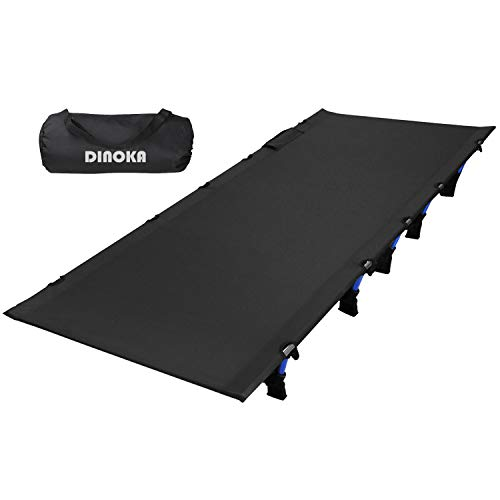 アウトドアベッド キャンプコット DINOKA 折り畳み式ベッド キャンピングベッド 耐荷重180KG ワイドサイズ200×70×17CM コンパクト 組立簡単 山登り 防災 1年保証 (グレー)