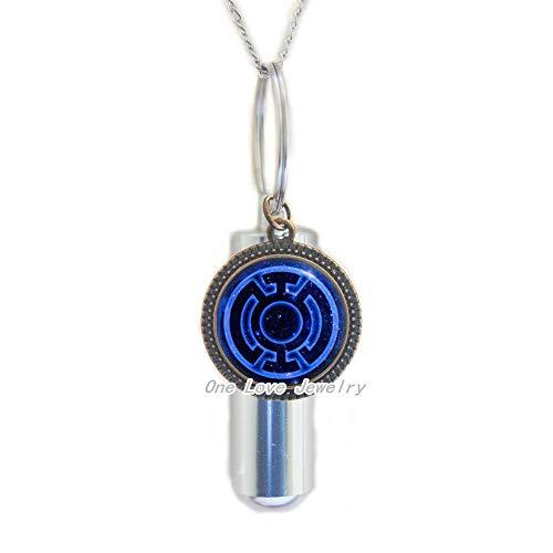 Ni36uo0qitian0ozaap Collar de URN de cremación de linterna azul, URN de linterna azul, collar de URN de cremación de videojuegos, regalos de arte, para ella, para él, TAP097