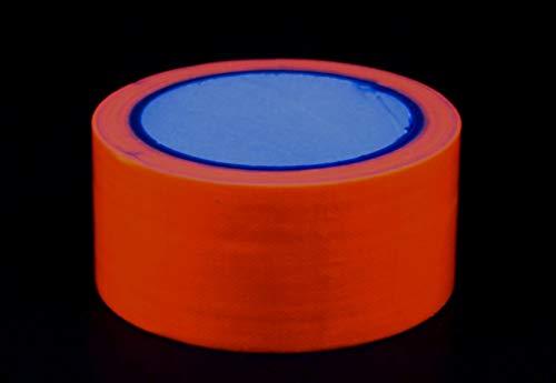 Neon Tape Klebeband Uv aktiv Schwarzlicht Gaffa 50mm x 10m (orange, 50mm x 10m 1 Rolle)