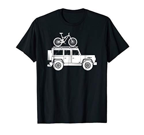 Mountain Bike on Top of Car Bike Rack - MTB Shirt