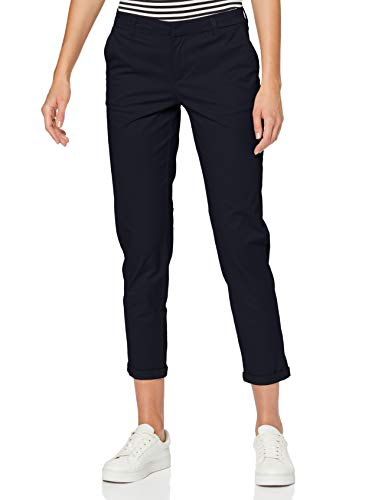 Only ONLBIANA-OLI Life Cotton Chino CC PNT Pantaln, Azul Oscuro, 36W x 32L para Mujer