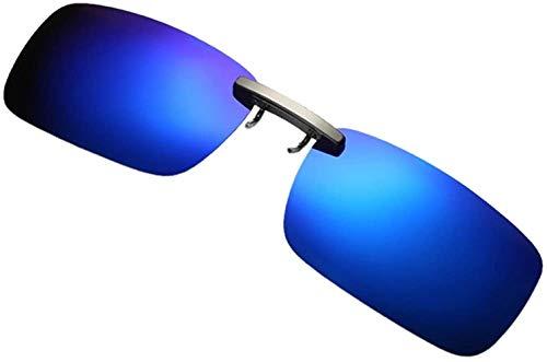 Fuibo Clearance zonnebril for mannen vrouwen Afneembare Van Vision Optics Night Training metalen clip Polarize On Zonnebrillen (Blauw (30% korting 4 of meer)