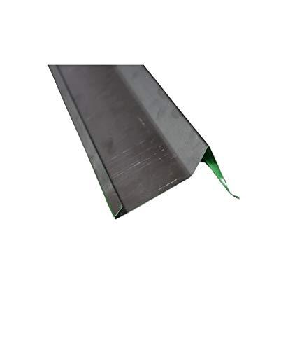 Ortgangblech 2 m lang Aluminium Natur 0,8 mm (klein)