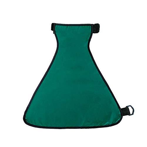 Disfraz de Mascota Ropa Impermeable para Mascotas Impermeable Ajustable Cubierta Ligera para el Vientre para la Lluvia para Perros y Cachorros (Verde, Talla S)