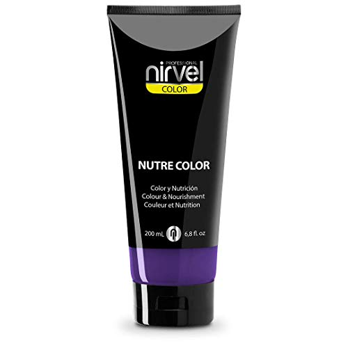 Nirvel NUTRE COLOR FLUOR Mora 200 mL Mascarilla Profesional - Coloración temporal - Nutrición y brillo